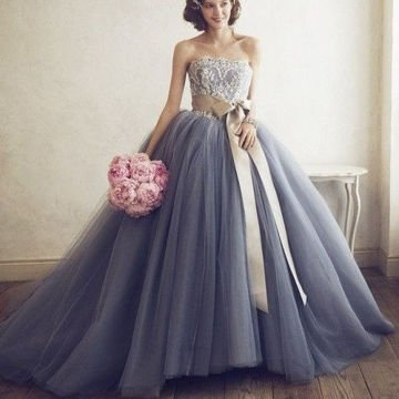 Grey Flair Prom Dress