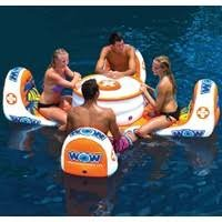 4 Person Lounge Float with Coolers