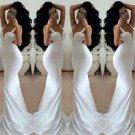 White Silk Prom Dress