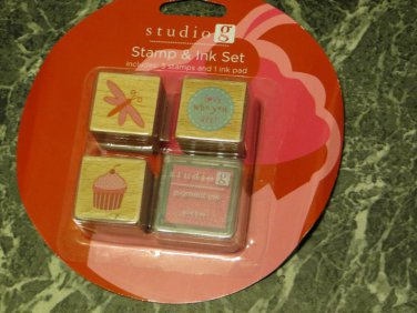 stamp set with ink pad