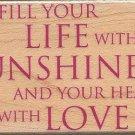 Life with sunshine sayins stamp