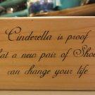 cinderella shoes - stamp