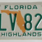 1994 Florida License Plate Highlands Country