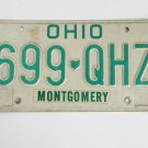 Ohio License Plate Montgomery Country
