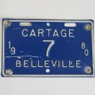 1980 Belleville Cartage License Plate