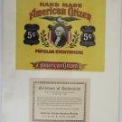 American Citizen Cigar Advertising Art Work 1880-1940