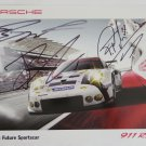 2015 Autographed Porsche 911RSR Racing Team Hero Card