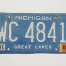 Michigan Great Lakes License Plate Tag