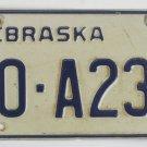 1987 Nebraska License Plate