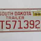 South Dakota Trailer License Plate