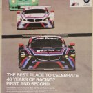 BMW 40 Years Of Racing Poster Z4 GTLM IMSA Le Mans BMW Motorsports