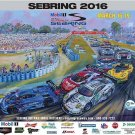 2016 Mobil1 12 Hours of Sebring Poster