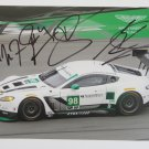 2016 Aston Martin Vantage GTD Racing Team Signed Hero Card