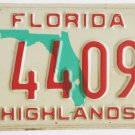 89 Florida License Plate