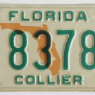 Florida State Map License Plate Collier County