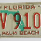 1992 Palm Beach Florida License Plate