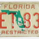 1999 Florida License Plate Restricted