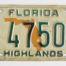 1984 Florida License Plate