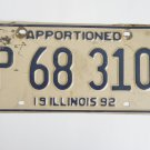 Illinois Apportioned Truck License Plate Trucker Tag
