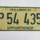 Illinois Apportioned Truck License Plate Tag