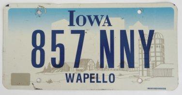 05 Iowa Graphic License Plate