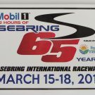 2017 Mobil1 12 Hours of Sebring 65 Years Sticker IMSA