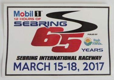 2017 Mobil1 12 Hours of Sebring 65 Years Sticker IMSA