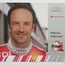 Marco Werner Audi R15 Audi Sport Team Joest Hero Card Audi IMSA Racing