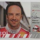 Autographed Marco Werner Audi R15 Audi Sport Team Joest Hero Card Audi IMSA Racing