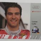 Autographed Lucas Luhr Audi R15 Audi Sport Team Joest Hero Card Audi IMSA Racing