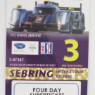 2013 Mobil1 12 Hours of Sebring Super Ticket Audi R18 Etron IMSA