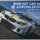 2017 BMW M6 Art Car Poster By John Baldessari BMW Racing Rolex 24