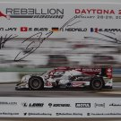 Rebellion Racing IMSA Daytona 24 Drivers Signed Photo Hero Card