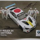 BMW Team RLL Art Car No. 19 Daytona 24 Hour Signed Photo Hero Card