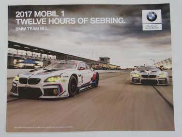 BMW GTLM Team RLL 2017 Mobil1 12 Hours of Sebring Hero Card IMSA WEC