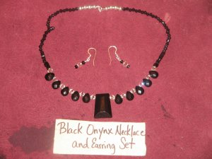 Black Onyx and Crystals