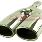 """Brand New 2-7/16"""" Weld On Slanted Oval Exhaust Tip"""