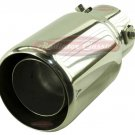 "Brand New 2-1/2"" Bolt On Stainless Steel Straight Round Exhaust Tip"