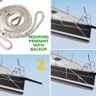 NEW Driftproof Mooring Pendant Line. 3 Strand Nylon Rope with Thimble. 5/8 X 10 Launch Offer
