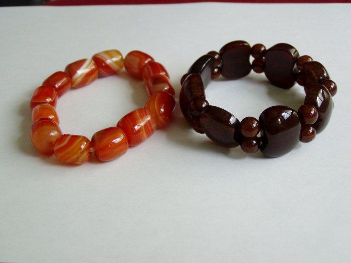 2 Carnelian Bracelets