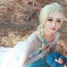 Disney Movies Frozen Snow Queen Elsa Blonde Weaving Braid Cosplay Wig
