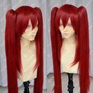Popular Fairy Tail Scarlet Red Cosplay Wig + Two Clip on Ponytail ★★★