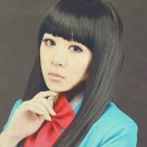 Hot Sell! New Fashion Long Black Cosplay Straight Wig 100cm