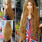 Fashion Women Heat Resistant Long Wavy Curly Hair Cosplay Wigs Full Wig