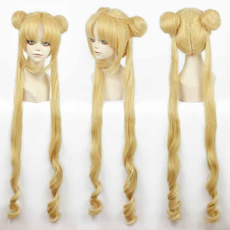 A Long Tsukino Usagi And Princess Serenity Girl Sailor Moon Cosplay Costumes Wig