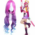 LOL Miss Fortune Bounty Hunter Arcade Mixed Color Long Wavy Cosplay Wig