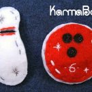 Bowling Pin & Ball Set - Big Girl Felt Hair Clips