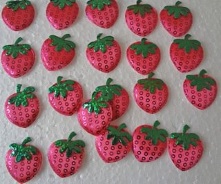 Strawberry Padded Applique