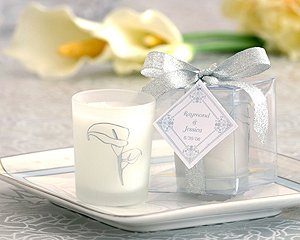 Scented Frosted Glass Votive- Calla Lily