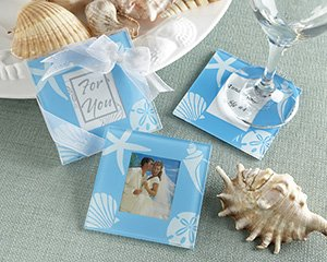 """Four Seasons"" Glass Photo Coasters"